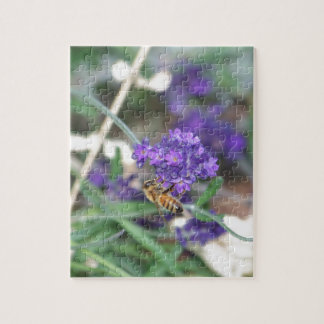 Honeybee on Lavender Jigsaw Puzzle