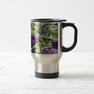 Honeybee on Lavender Travel Mug