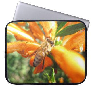 Honeybee on Lion's Tail Flower Laptop Sleeve