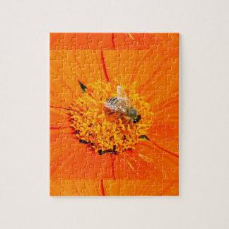 honeybee on orange flower puzzle