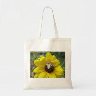 Honeybee on Sunflower Tote Bag