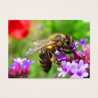 Honeybee on Verbena ATC Business Card