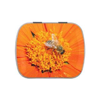 honeybee orange candy tin