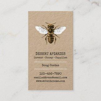 Honeybee Rustic Apiary Business Card