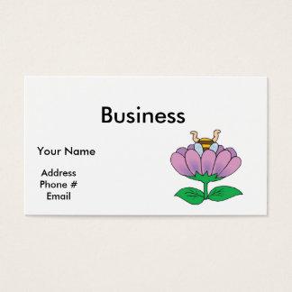 honeybee stuck in flower business card
