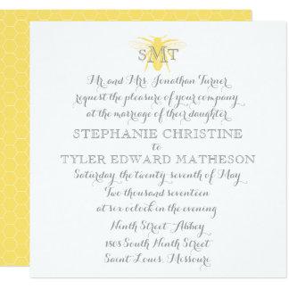 Honeybee Wedding Invitation