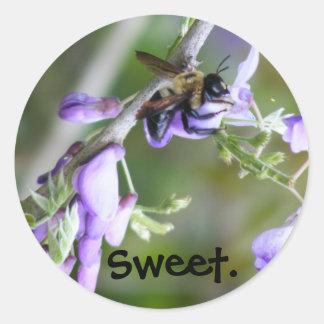 Honeybee-Wisteria sticker #1
