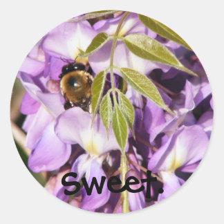 Honeybee-Wisteria sticker #2