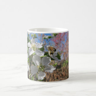 Honeybee with Pear Blossoms Coffee Mug