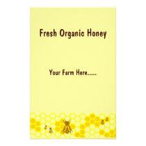 Honeybee Yellow Honey Custom Flyer