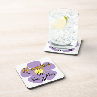 Honeybees feed Yous & Mees (Mauve) - Coasters