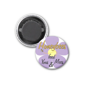 Honeybees feed Yous & Mees (Mauve) - Magnet