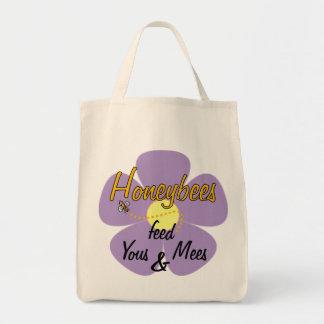 Honeybees feed Yous & Mees (Mauve) - Tote Bags