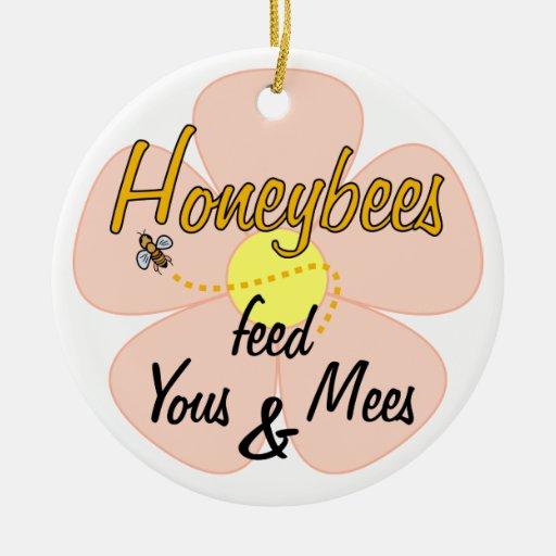 Honeybees feed Yous & Mees (Pink) - Ornament