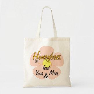 Honeybees feed Yous & Mees (Pink) - Tote Tote Bag
