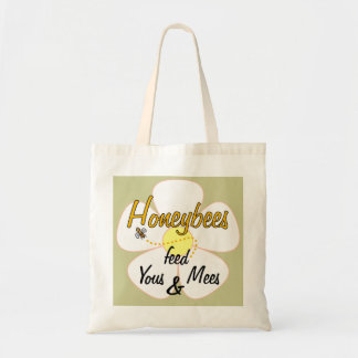 Honeybees feed Yous & Mees (White) - Tote Budget Tote Bag