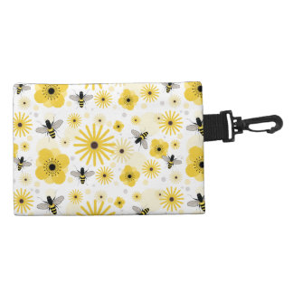 Honeybees & Flowers Clip On Accessory Bag