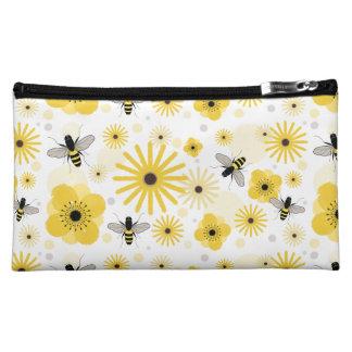 Honeybees & Flowers Cosmetics Bag Makeup Bag