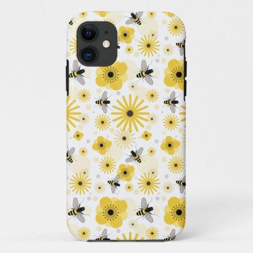 Honeybees & Flowers iPhone 5 Case Phone Case