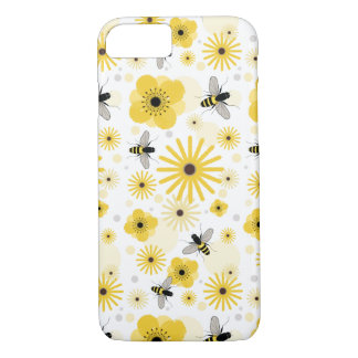 Honeybees & Flowers iPhone 7 case
