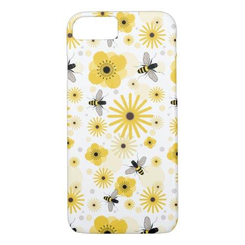 Honeybees & Flowers iPhone 7 case