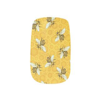 Honeybees Honeycomb Bumble Bee Hive Pattern Minx Nail Wraps