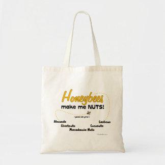 Honeybees make me NUTS! - Tote Bag