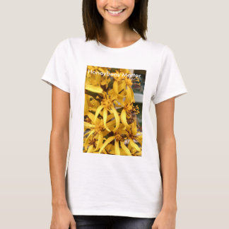 Honeybees Matter! Honeybee on Yellow flower T-Shirt