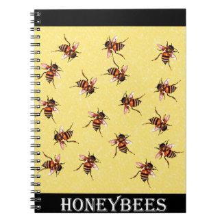 Honeybees Spiral Note Books