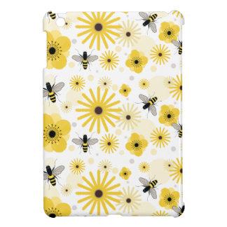 Honeybees Polka Dots & Flowers iPad Mini Case