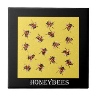 Honeybees Ceramic Tile
