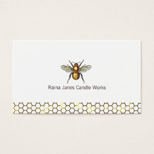Candle making business cards templates zazzle honeycomb and bee candle maker business card colourmoves Choice Image