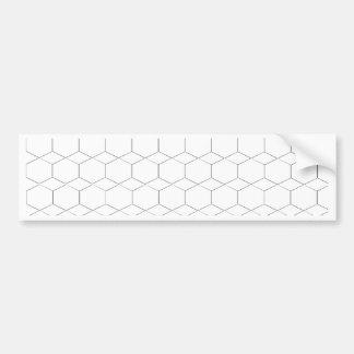 Honeycomb and diamond shape, Black and White Bumper Sticker