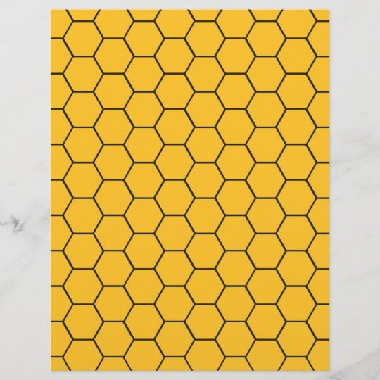Honeycomb Baby Scrapbook Paper Zazzle