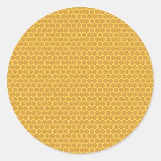 Honeycomb Background Classic Round Sticker