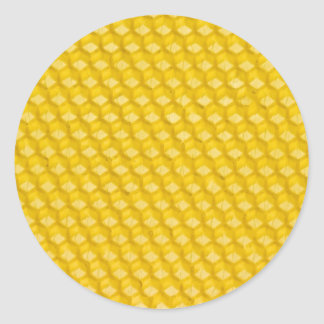 Honeycomb Background Gifts Round Stickers