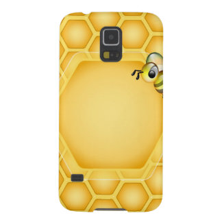 Honeycomb background with a cute honeybee galaxy s5 cover