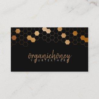 Honeycomb bee farm Apiary Organic Business Card