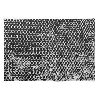 Honeycomb black and white place mat