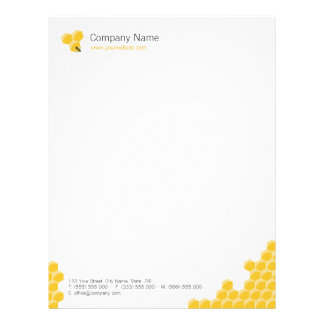 Honeycomb business letterhead