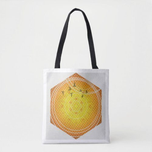 Honeycomb Geometry Tote Bag