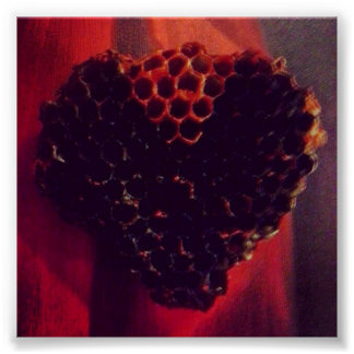 Honeycomb Heart Poster
