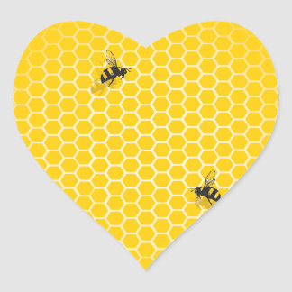 Honeycomb Heart Sticker