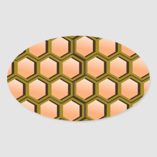 Honeycomb Image Oval Sticker
