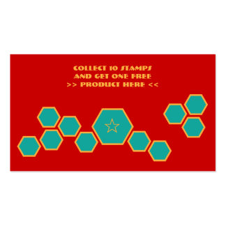 honeycomb loyalty punch card Double-Sided standard business cards (Pack of 100)