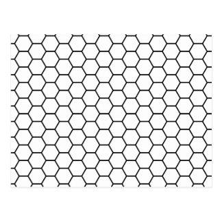 Honeycomb Mesh Pattern Postcard