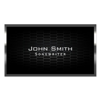 Honeycomb Metal Cells Songwriter Business Card