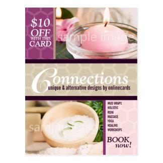 Honeycomb Modern Photo template Business Postcard
