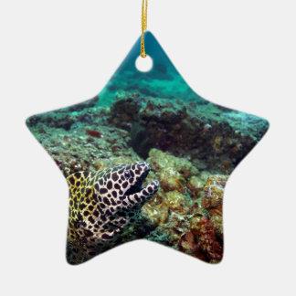 Honeycomb moray eel ceramic ornament