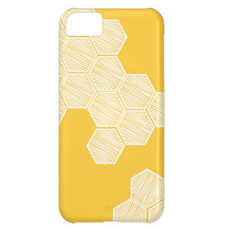 Honeycomb or Hexagon Yellow iphone Case iPhone 5C Case